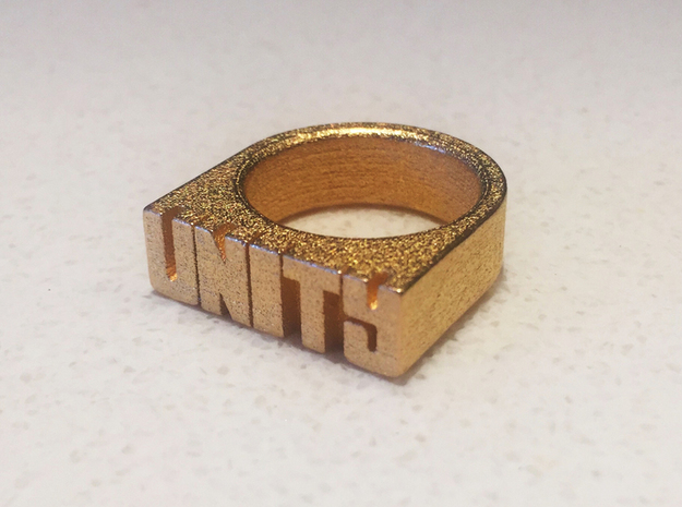 15.0mm Replica Rick James 'Unity' Ring in Polished Gold Steel
