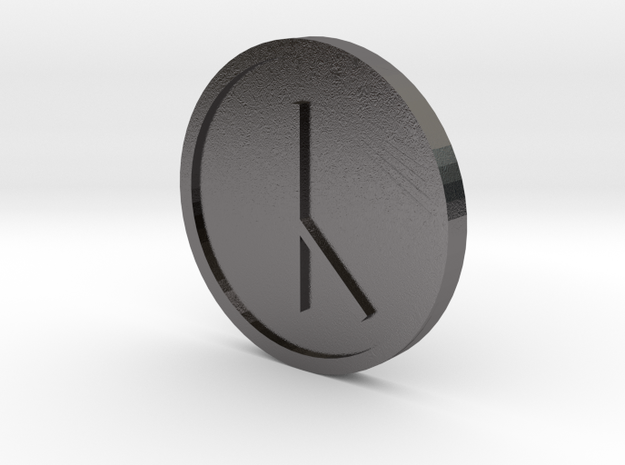 Cen Coin (Anglo Saxon) in Polished Nickel Steel