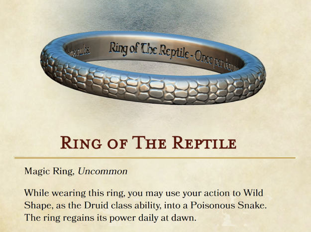 Ring of the Reptile in Polished Bronze: 5 / 49