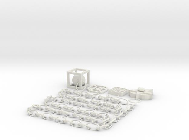 PTT Necklace & Pendants in White Natural Versatile Plastic