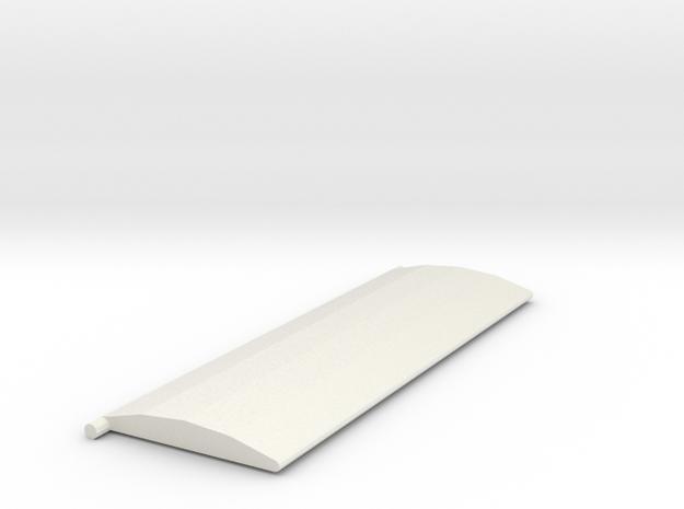 Dryer Vent Louver in White Natural Versatile Plastic