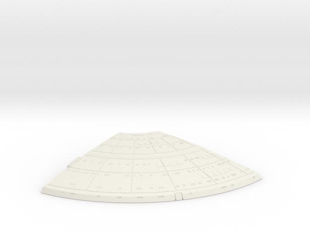1/1400 Ambassador proposal Left Upper Saucer (Fron in White Natural Versatile Plastic