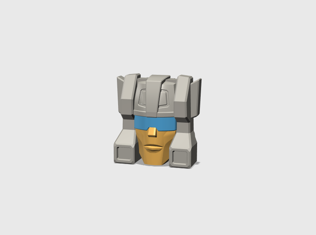 Old Stubborn Face G1 cartoon in Smooth Fine Detail Plastic: Small