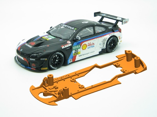 PSCA00601 Chassis Carrera BMW M6 GT3 in White Natural Versatile Plastic