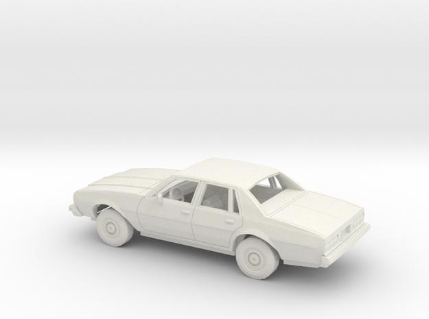1/25 1977-78 Chevrolet Impala Sedan Kit in White Natural Versatile Plastic