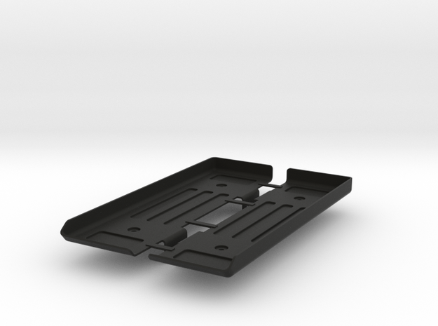 AD10002 floor & Battery mount (SCX10) in Black Strong & Flexible