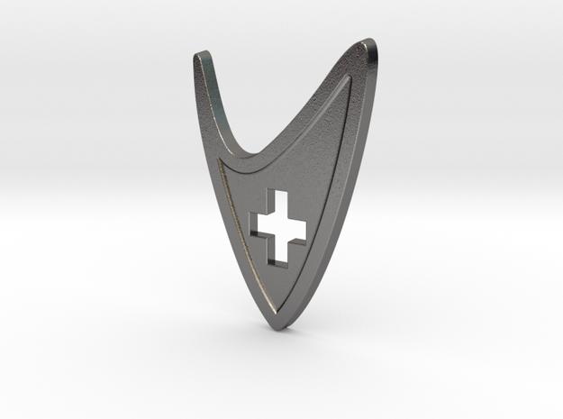 Star Trek Medical Insignia Badge in Polished Nickel Steel