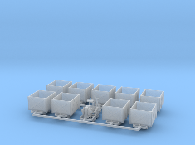 Feldbahn Set4 Torfbahn - TTf 1:120 in Smooth Fine Detail Plastic