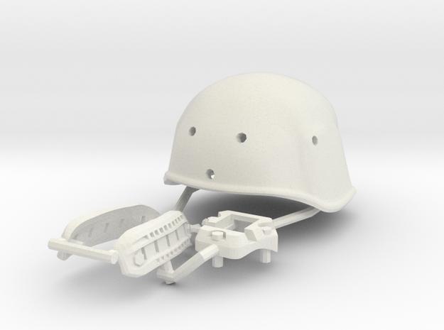 1:6 Modern helmet set   in White Natural Versatile Plastic