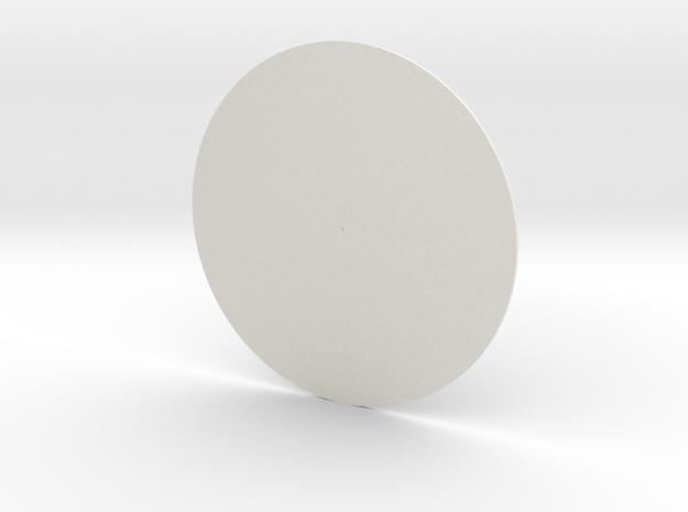 Tesla Turbine optional side cap in White Natural Versatile Plastic