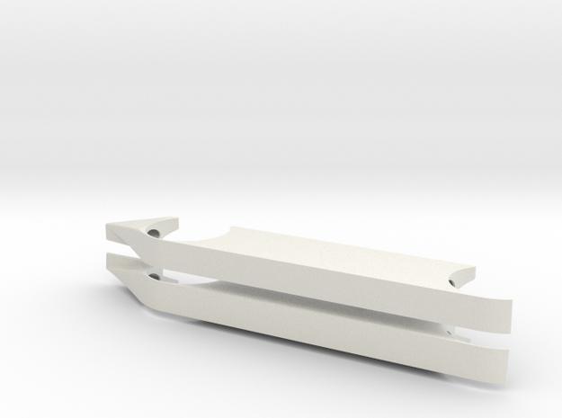 Full Fenders LH & RH Extended No Wheel Well Guide in White Natural Versatile Plastic