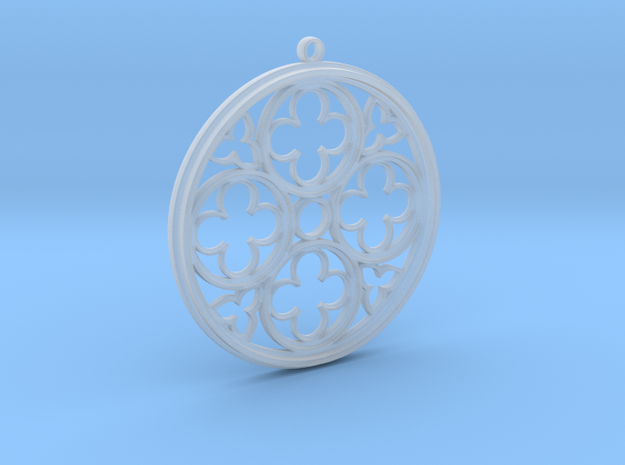 gotic pendant  in Smooth Fine Detail Plastic