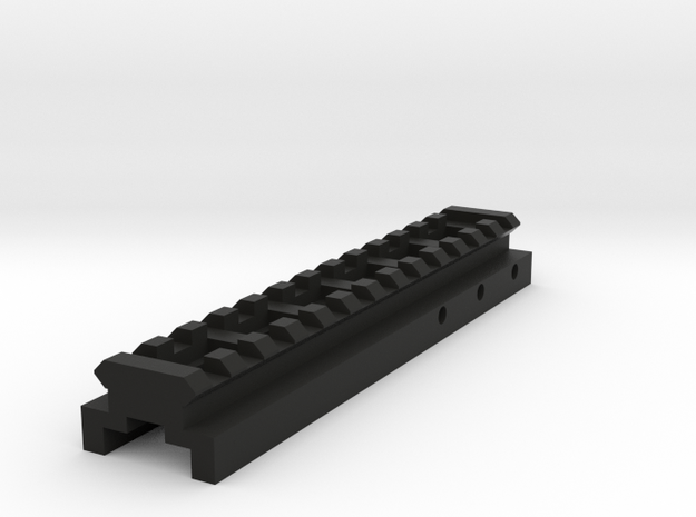 Top Picatinny Rail for Nerf Zombie Strike FlipFury in Black Natural Versatile Plastic