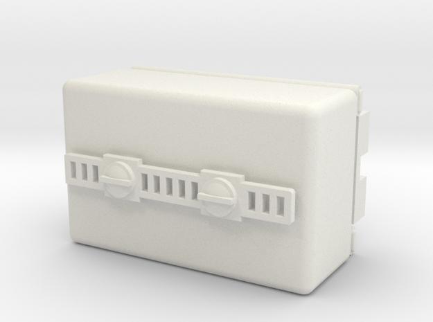 009 Square Tank Wagon in White Natural Versatile Plastic