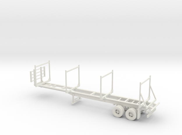 Timber Trailer With Wheels Fixed 1-87 HO Scale