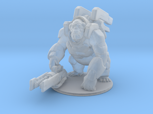 Overwatch Winston 1/60 miniature for games and rpg in Smooth Fine Detail Plastic