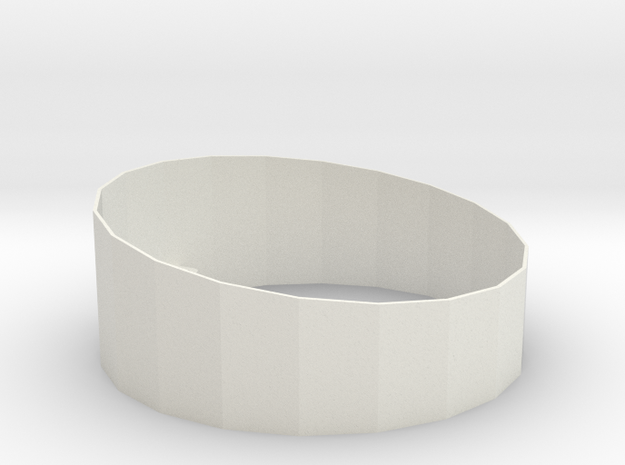 P-Ring-X1 in White Natural Versatile Plastic