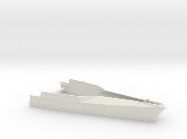 1/350 1919 US Small Battleship Design A7 Bow Water in White Natural Versatile Plastic