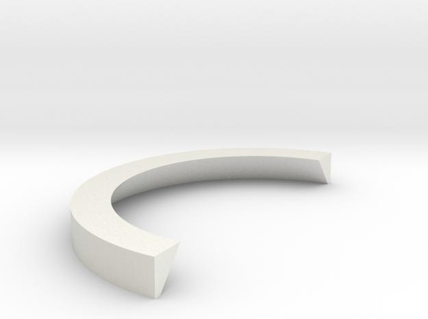 1:1 Apollo RCS Split Ring in White Natural Versatile Plastic