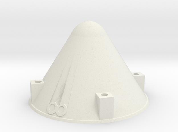 Apollo BPC Cap 1:45 in White Natural Versatile Plastic