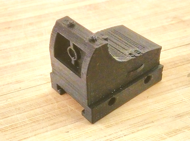 Micro Red Dot Sight Mark II for Nerf Rail in Black Natural Versatile Plastic