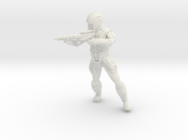 Sith Trooper with Carbine 4 in White Natural Versatile Plastic