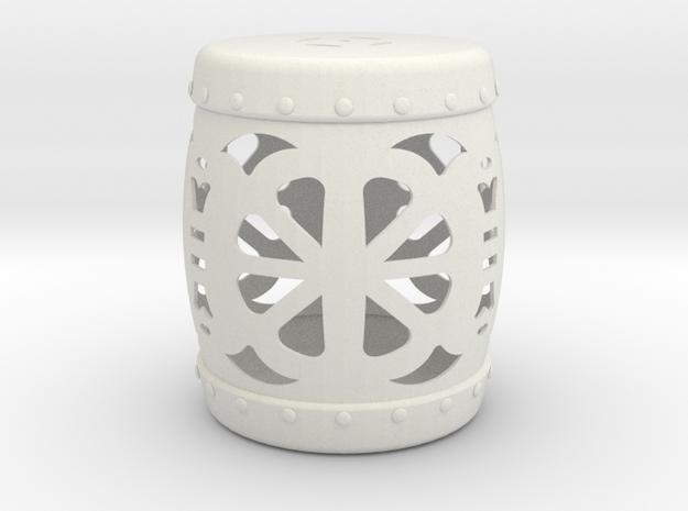Garden Stool in White Natural Versatile Plastic