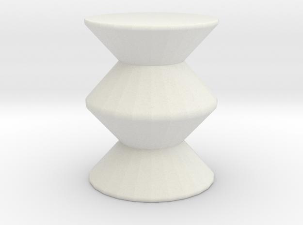 Mod stool in White Natural Versatile Plastic