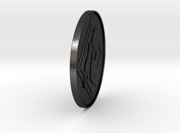 Apex Coin/Season 1 - Challenge Coin  in Polished and Bronzed Black Steel