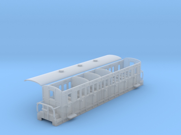 Ffestiniog Rly compartment comp coach NO.15 in Smooth Fine Detail Plastic