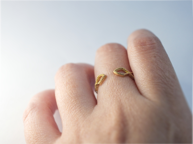 The Spark Ring in Polished Brass: 5.25 / 49.625