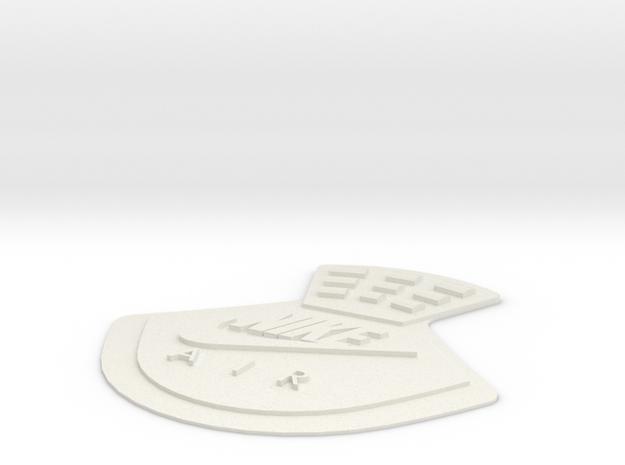 Jordan 4 replacement back tab NIKE AIR in White Natural Versatile Plastic