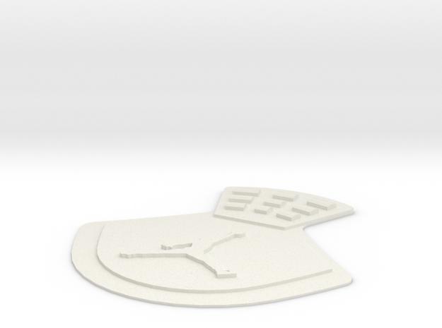 Jordan 4 replacement back tab Jumpman  in White Natural Versatile Plastic