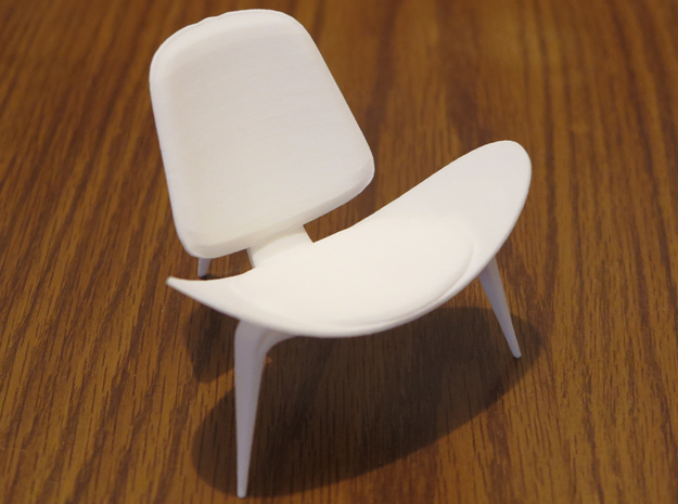 """Steelcase Shell Chair 2.8"""" tall in White Natural Versatile Plastic"""
