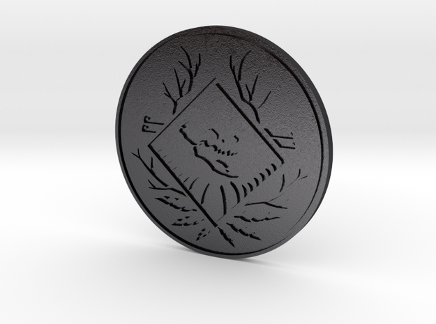 Apex Legends Coin - Apex Coin & Season 1 BP 110 in Polished and Bronzed Black Steel
