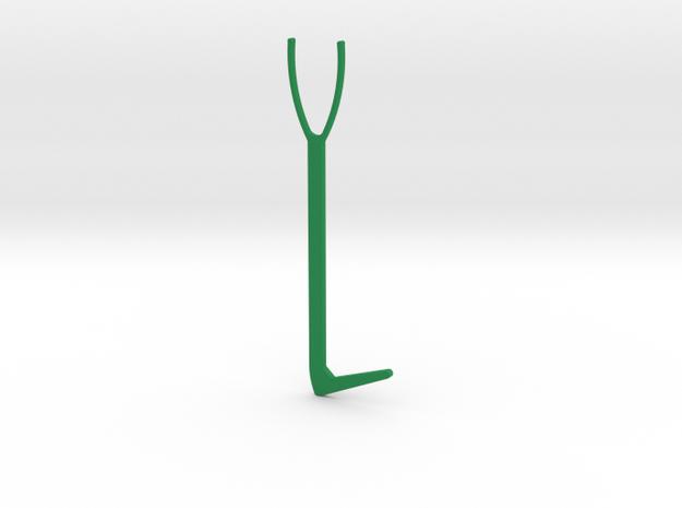 Egyptian Vibro tool prototype omega in Green Processed Versatile Plastic