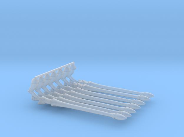Eldar Space Elf Shining Spears x7 (5 Short 2Star) in Smooth Fine Detail Plastic