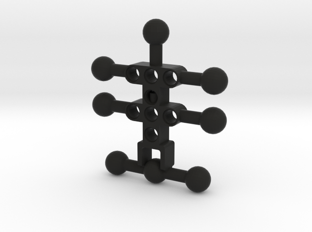 4 armed Mini Bionicle(CCBS) Body in Black Natural Versatile Plastic
