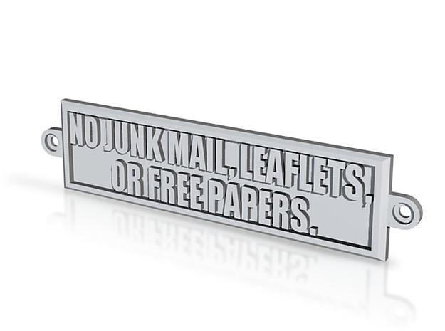Junk Mail Sign 3d printed