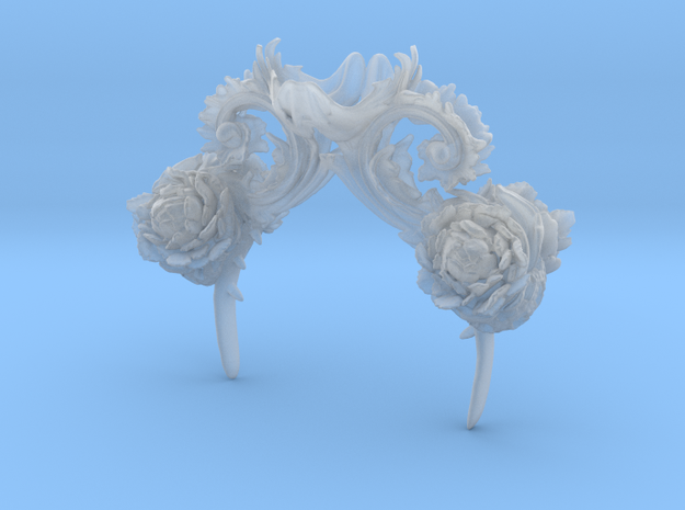 Rococo Headpeice in Smooth Fine Detail Plastic