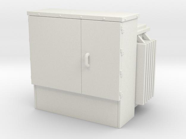 Padmount Transformer 01. 1:72 Scale (no base) in White Natural Versatile Plastic