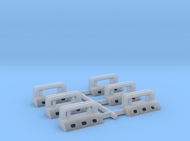 1/192 USN Massachusetts Roller Chocks Set in Smooth Fine Detail Plastic