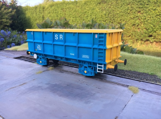 7mm POA Scrap wagon Empty in White Natural Versatile Plastic