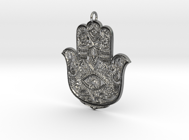 Hamsa in Natural Silver