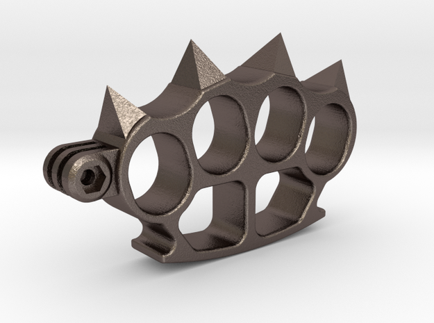 Aggressive support for GoPro (all models) in Polished Bronzed-Silver Steel