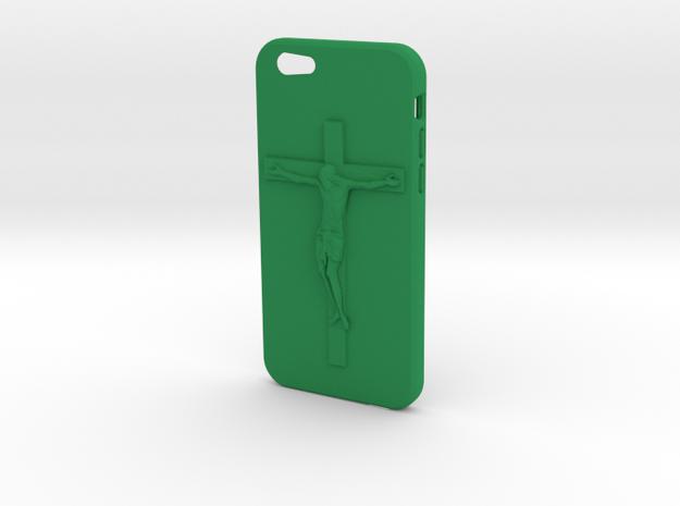 IPhone 6 Jesus Case in Green Processed Versatile Plastic