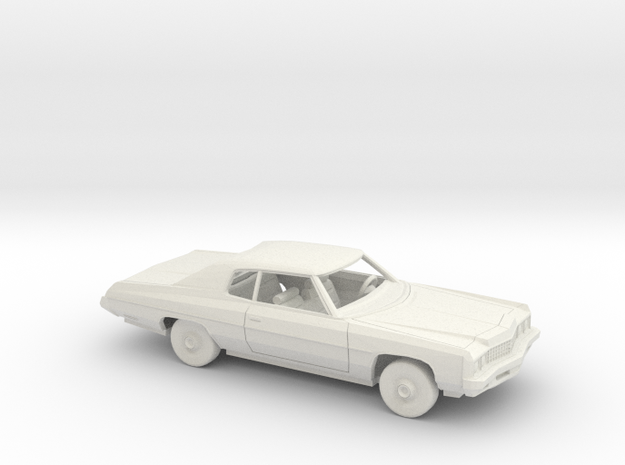 1/64 1973 Chevrolet Impala Custom Coupe Kit in White Natural Versatile Plastic