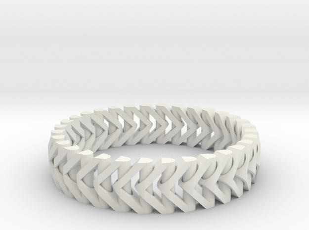 PiP Bracelet Version 3 (Articulating) in White Natural Versatile Plastic
