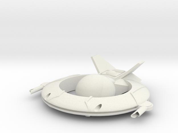 AC-190 Light Fightercraft in White Natural Versatile Plastic