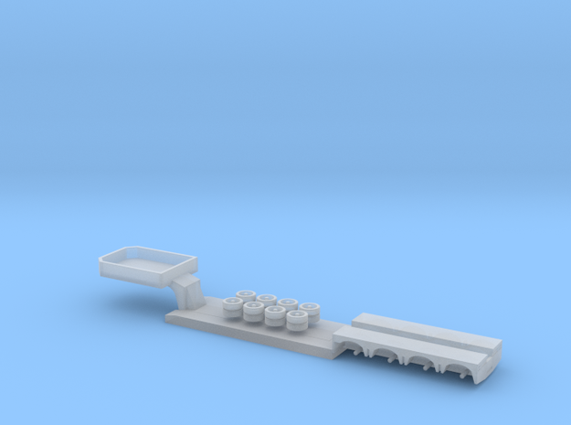 1:160/N-Scale 4 Axle Low Loader in Smooth Fine Detail Plastic